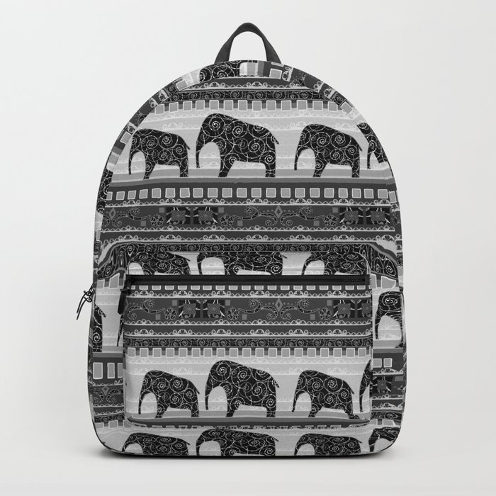 Ethnic ornament . Elephants Backpack