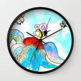 Bee Friends Wall Clock