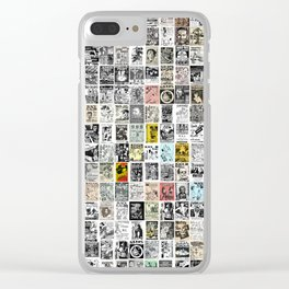 Punk Show Flyers Clear iPhone Case