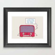Radio Static Framed Art Print
