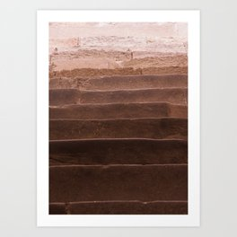 natural gradient, brown to beige, stairs Art Print