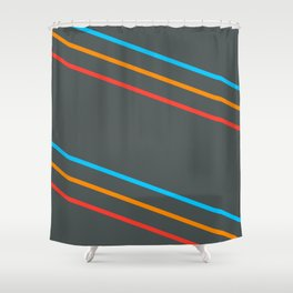 Space Stripes Shower Curtain