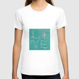 Teal Love Star T-shirt