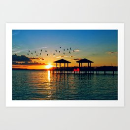 South for the Winter Art Print