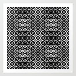 Carmella - Black Art Print