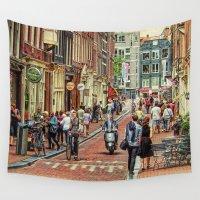 amsterdam Wall Tapestries featuring Amsterdam by Ellen van Deelen