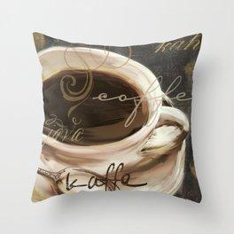 Le Cafe II Throw Pillow