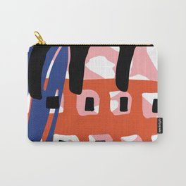 Abstract Grid Carry-All Pouch