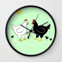 Family Hen Wall Clock