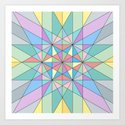 Colorful Pastel Mosaic Triangle Star by pldesign