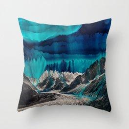 Skyfall, Melting Blue Sky Throw Pillow