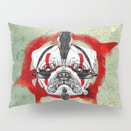 Punk Pug Pillow Sham
