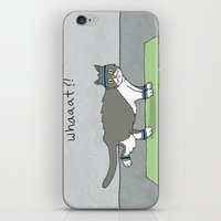 caleb troy iPhone & iPod Skins featuring Yoga Cat by Caleb Croy by UCO Design