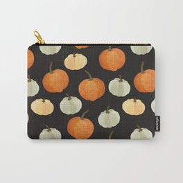 Orange yellow gray black watercolor pumpkin pattern Carry-All Pouch