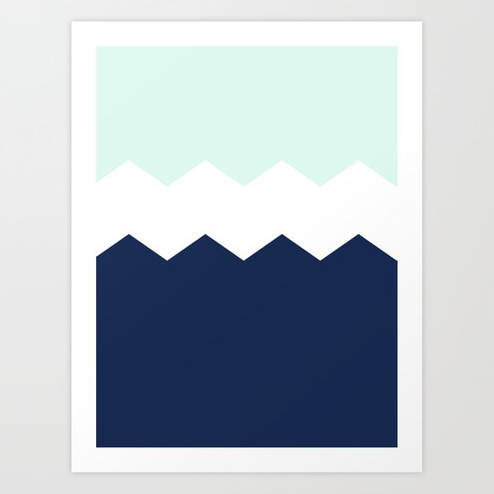 triple chevron Art Print