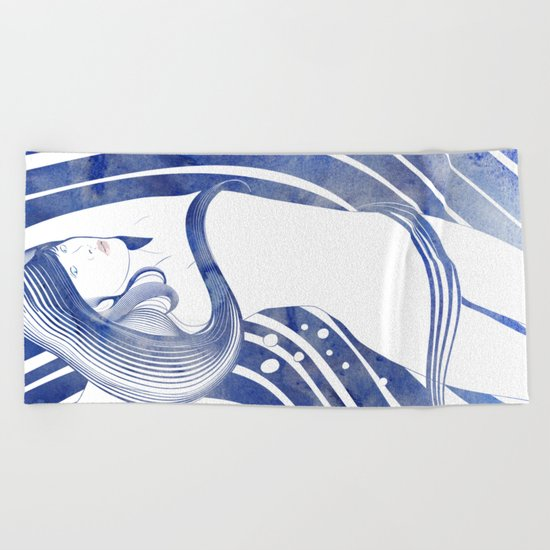 Water Nymph LXI Beach Towel