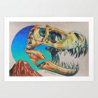 Jurassic Skull Mini Art Print