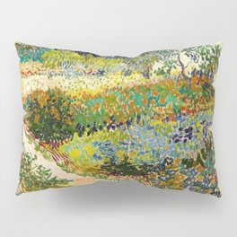 Garden at Arles by Vincent van Gogh, 1888 Pillow Sham