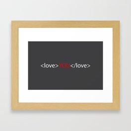 Love you 02 Framed Art Print