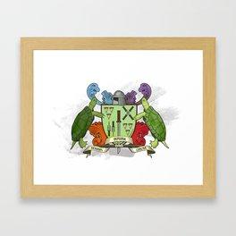 Sewer Family Crest Framed Art Print