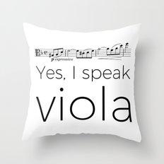 Yes, I speak viola (Glinka) Throw Pillow