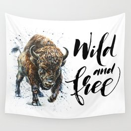 Buffalo Wild and Free Wall Tapestry