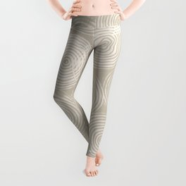 Radial Block Print in Tan Leggings