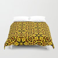 damask Duvet Covers featuring vintage damask by clemm