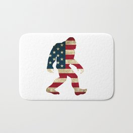 Bigfoot american flag Bath Mat