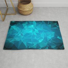 Blue Polygonal Mosaic Rug