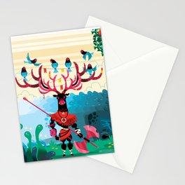 Moos warrior Stationery Cards