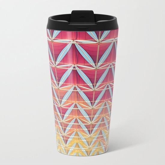 From pink to yellow pattern Metal Travel Mug
