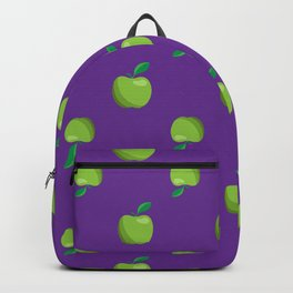 a basket of green apples pattern Backpack