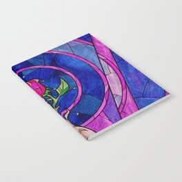 Enchanted Rose Stained Glass Notebook