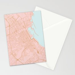 Palermo map Stationery Cards