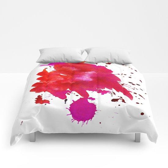 Watercolor red 1 Comforters