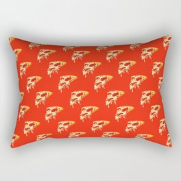 Red melty pizza slice pattern, pizza time Rectangular Pillow