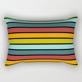Multicolored Stripes: Rainbow Colors Rectangular Pillow