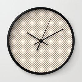 Iced Coffee Polka Dots Wall Clock