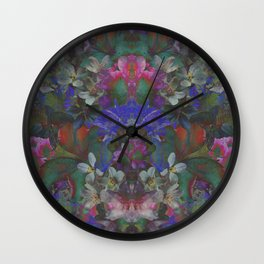 Midnight Garden Wall Clock