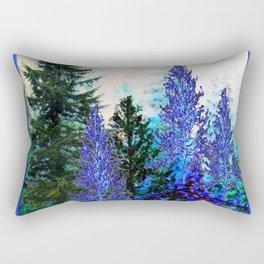 BLUE-GREEN MOUNTAIN FOREST LANDSCAPE Rectangular Pillow