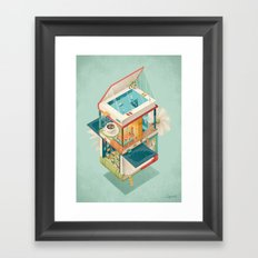 Creative house Framed Art Print
