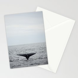A whale salute Stationery Cards