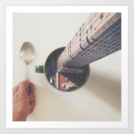 Evening breakfast with Supertramp Art Print