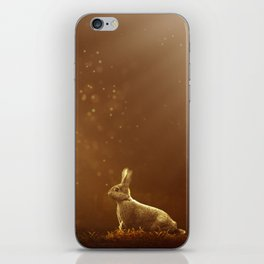 Rabbit in the Sunlit Forest iPhone Skin