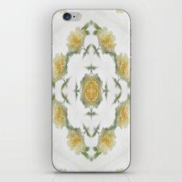 Creamy Yellow Rose Kaleidoscope Art 1 iPhone Skin