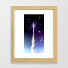 Up to the stars. Framed Art Print