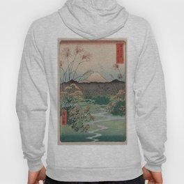 Utagawa Hiroshige - Otsuki Plain in Kai Province (1858) Hoody