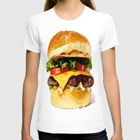 burger T-shirts featuring Burger by Owl Things