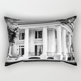 Taylor Grady House in BW Rectangular Pillow